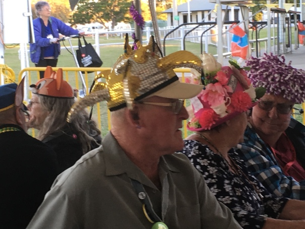 Crazy hats at CMCA Solos Rally, Blackall Queensland