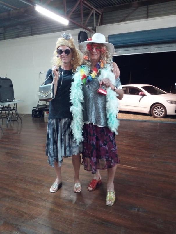 Op shop fashion at CMCA Solos Rally, Blackall Queensland