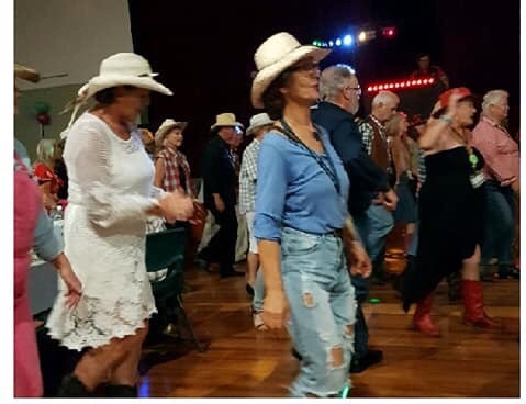 Line dancing at CMCA Solos Rally, Blackall Queensland