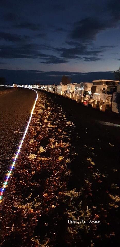 The Longest Line of LED lights at Barcaldine